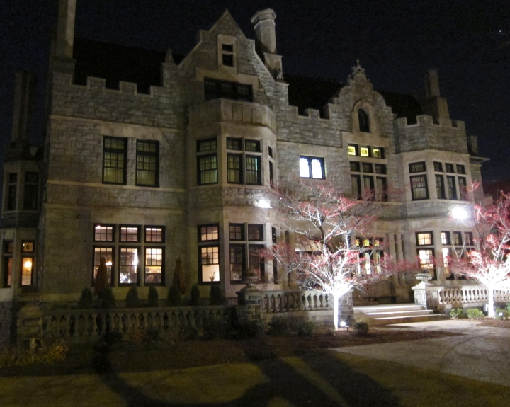 Night-time at the McCook mansion