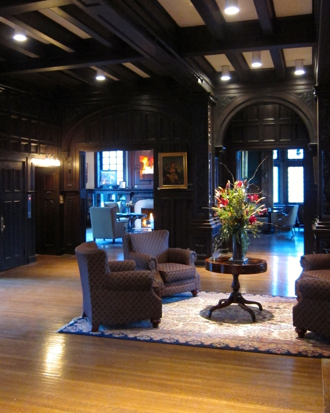 The lobby at the Mansions on Fifth
