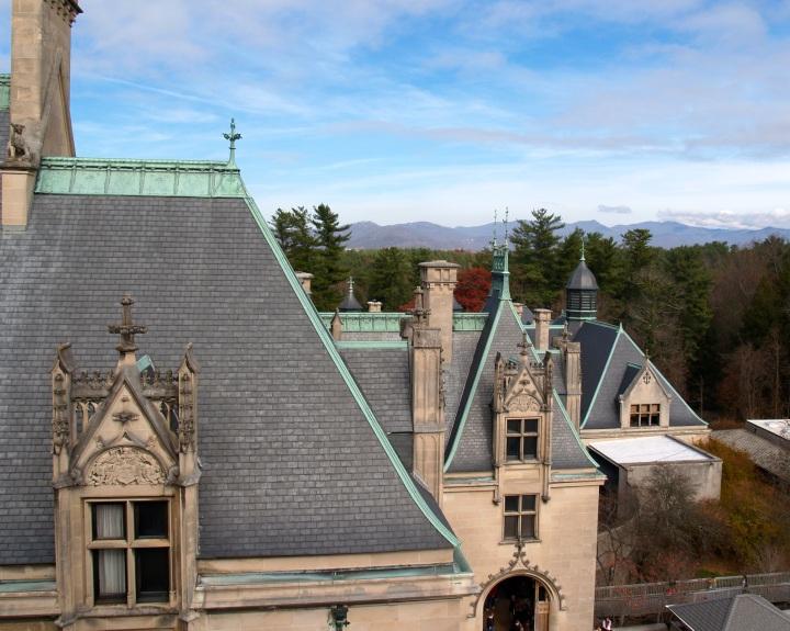 Tile roof on the Biltmore Estate