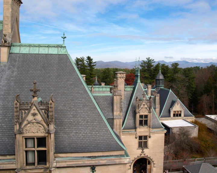 Tile roof on the Biltmore Estate