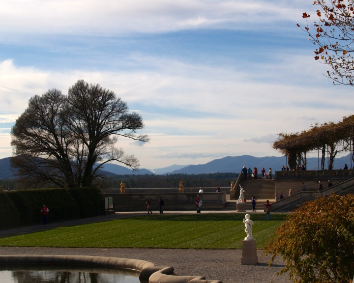 View of the water gardens at the Biltmore