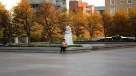 Nashville War Memorial Plaza on Thanksgiving Day