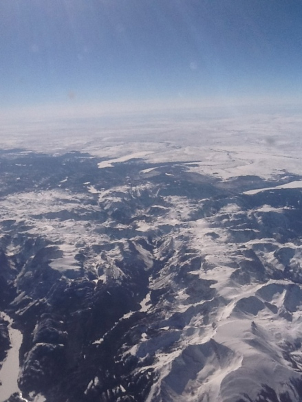I always kind of freak out when flying to ski in the mountains. From the air, it looks impossible.