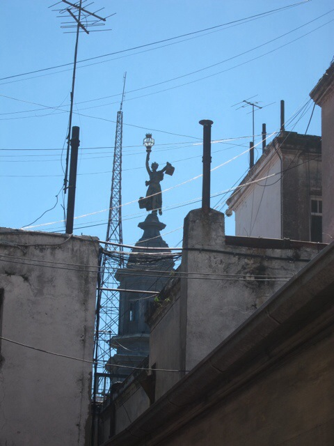 Buenos Aires skyline, from Calle Hipolito Yrigoyen near Plaza de Mayo
