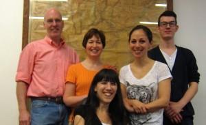 Stuart, Heidi, Paula, Ana y Hendrik