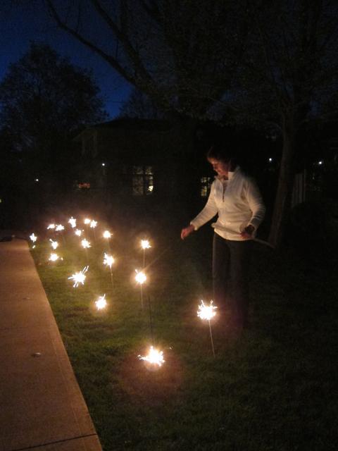HVW lighting the sparkler garden
