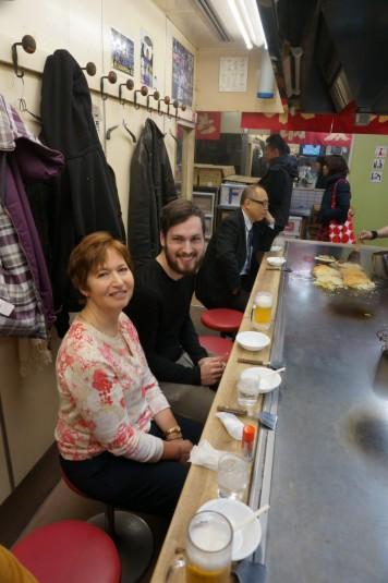 Okonomiyaki lunch at Okonomi-Mura in Hiroshima