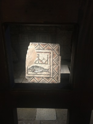 5th century mosaic: Christian fish symbol, or menu?