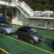 Our little chariot on the great big ferry
