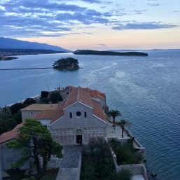 View from bell tower in Rab