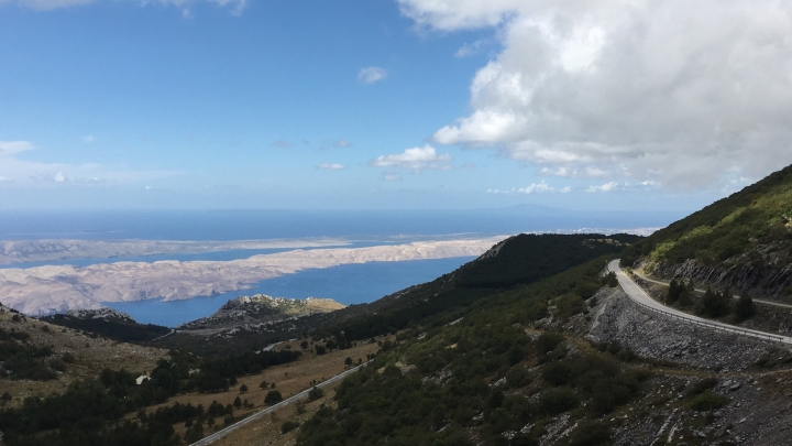 View of Pag island from the Velebit