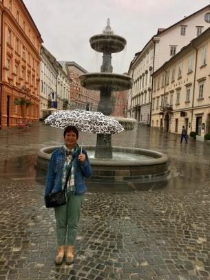 In Ljubljana, its raining