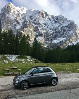 Our little chariot takes on the Julian Alps