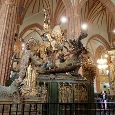 St. George slays the dragon @Storkyrkan