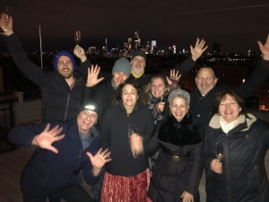 NY Eve with a bunch of folks (AWB, Peter, SMB, Andrea, George, Ron, H1, Alyssia, HVW)