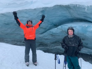 SMB + PA @ Ice cave on Blackcomb Glacier