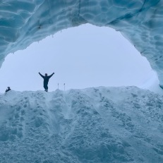 Ice cave on Blackcomb Glacier