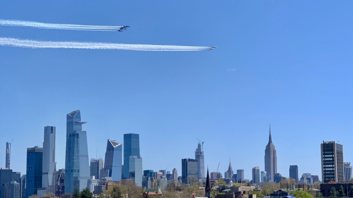 Thunderbirds and Blue Angels over Manhattan