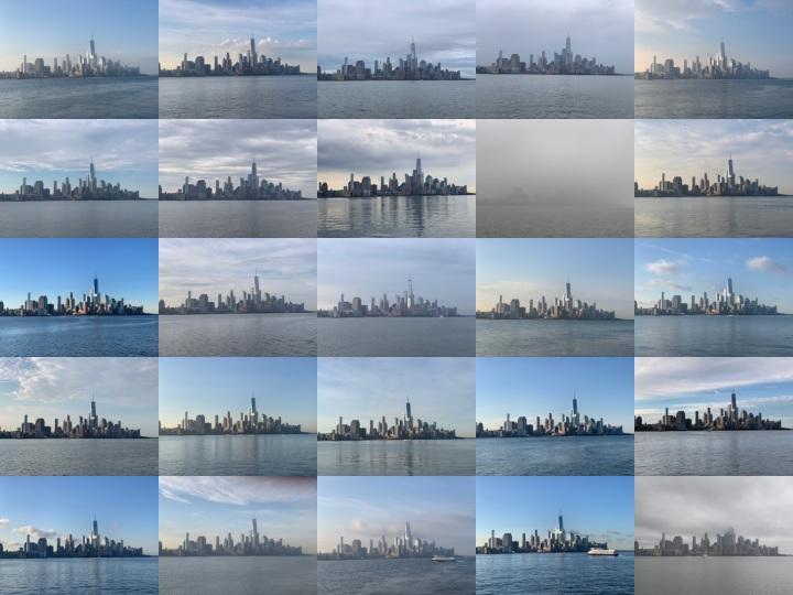 Manhattan financial district - ~7:20 a.m.