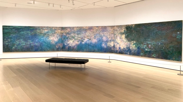Empty Water Lillies gallery @MoMA